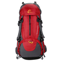 户外登山包双肩女男士50升大容量防水超轻旅游背包男徒步旅行包女 50L