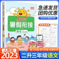 阳光同学暑假衔接二升三年级语文部编人教版2021新版小学生暑假作业本2升3年级