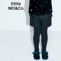 【到手价399】littlemoco女童裤子秋冬保暖毛呢羊毛短裤儿童裤子KA184SOT101