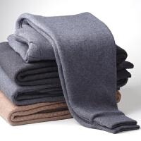 羊毛裤男士中年加厚羊绒秋冬季修身加绒羊毛保暖裤抗寒棉裤打底裤