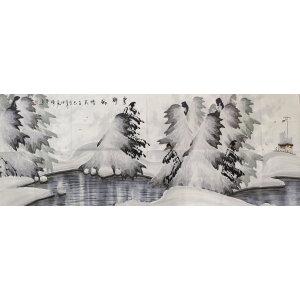 朱传华 冰雪山水画大家 国画 山水
