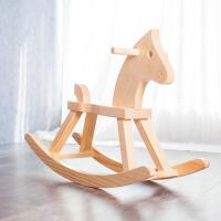 儿童小木马摇摇马实木宝宝1-6岁生日礼物幼儿园益智玩具木质木马