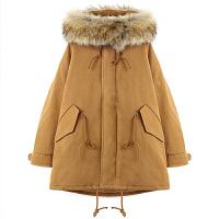 新年特惠女2019新款学生韩版宽松加厚中长款秋冬装羽绒袄工装外套