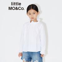 littlemoco儿童秋装新款女童甜美荷叶边纯棉长袖打底上衣