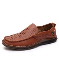 老北京布鞋男夏季中老年人爸爸鞋软底一脚蹬休闲商务透气网鞋