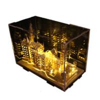 3D立体拼图金属模型手工天鹅堡建筑拼装玩具礼品 天鹅堡+黄灯 送:豪华礼包
