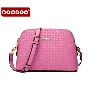 【支持礼品卡】DOODOO 2017新款时尚包包女包欧美甜美编织贝壳单肩斜跨女士小包包 D5160