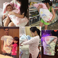 婴儿抱被秋冬用品外出宝宝包被厚两用被子春秋棉冬季初生