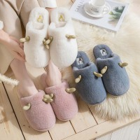 情侣棉拖鞋女冬季家居室内毛绒可爱月子家用秋冬包跟男士保暖儿童