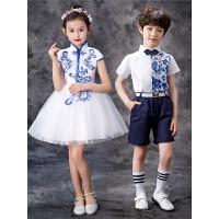 男童主持人礼服幼儿合唱服六一儿童演出服女蓬蓬裙表演服装