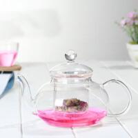 玻璃茶具带过滤玻璃泡花茶壶大容量耐热玻璃茶具泡花茶壶加热透明花草茶具加厚