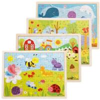 儿童拼图玩具益智拼板3-4-5-6岁宝宝拼图智力木制拼拼乐