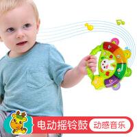 新生儿安抚宝宝手鼓婴儿玩具6-12个月早教音乐摇铃手拿0-1岁手抓