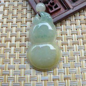 好种水老坑缅甸天然翡翠玉葫芦吊坠 配证书AOA-BCH-AIO