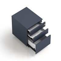 办公家具职员文件柜活动柜三抽移动储物柜带锁办公室矮柜ll