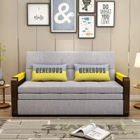 欧式客厅小户型多功能实木沙发床 小户型1.5M简约现代多功能双人两用1.2米沙发床 1.5米-1.8米