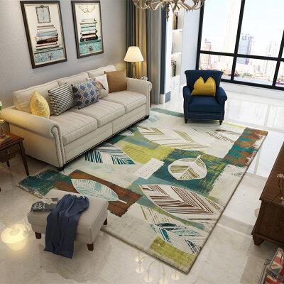 复古美式乡村北欧地毯客厅茶几沙发地毯卧室满铺床边地毯家用Y  300cmx400cm【升级款 可水洗