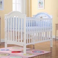 欧式榉木婴儿床实木环保多功能宝宝床游戏床bb床童床带滚轮