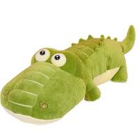 小鳄鱼毛绒玩具 鳄鱼毛绒玩具小玩偶娃娃女生儿童可爱睡觉抱枕动物软趴趴长条公仔 软体款 超大号 全长 135厘米 【有拉