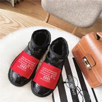 雪地靴女短筒2018冬季新款韩版平底百搭网红靴子学生加绒棉鞋外穿