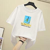 【重工刺绣 高品质】纯棉T恤insT恤女夏季新款网红打底衫内搭洋气纯棉上衣