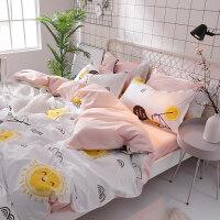 单人床单少女心床上四件套床单三件套学生宿舍单人被套被单六件套定制