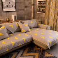 棉斜纹布艺沙发垫坐垫防滑沙发盖巾工业风定制q LOFT1987