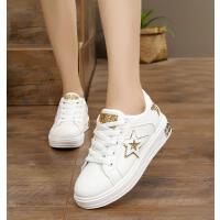 秋季13韩版14板鞋15岁小学生少女孩子白鞋10中大童11女生鞋子12岁 金色 偏小一码