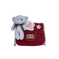 儿童包包斜挎包女童大熊立体链条包公主