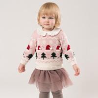 davebella戴维贝拉童装秋冬装新款女童针织套头衫宝宝毛衣DB11415