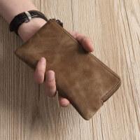 男士真皮长款拉链钱包牛皮手拿包手机包新洁女手包