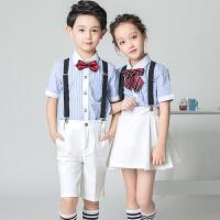 男童背带裤幼儿园女童大合唱团朗诵表演服儿童演出服礼服套装