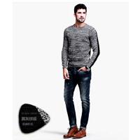 男士打底针织衫 男 时尚新款韩版线衣  修身圆领毛衣