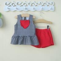 一岁女宝宝夏装潮0-1-3岁小女童裙子两件套装女婴儿衣服夏季2