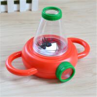 儿童昆虫观察器盒 科学探索科教放大镜玩具昆虫盒 放大镜小动物生物 红色