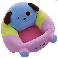 婴儿沙发 宝宝学座椅婴儿小沙发练习坐姿毛绒新生儿礼物安全防摔靠背坐凳子 小狗小号 10-13斤宝宝