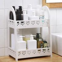 卫生间收纳柜 多功能卫生间置物架浴室桌面收纳架厕所洗手间卫浴柜两层卫浴收纳 白色