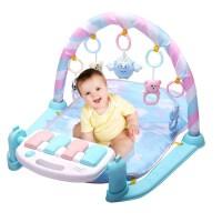 婴儿躺着玩具 宝宝健身架脚踢音乐婴儿钢琴健身器踩踏游戏垫地毯玩具躺着坐