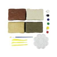 儿童手工软陶泥学生彩色雕塑免烧陶艺粘土手工制作教学用陶土
