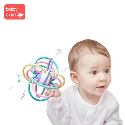 【满129减20】babycare 宝宝牙胶磨牙棒咬咬胶 婴儿玩具曼哈顿手抓球 五彩手抓球