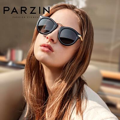 帕森太阳眼镜女 大框圆脸时尚复古女士潮流驾驶偏光镜墨镜女