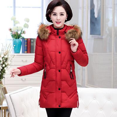 中老年棉衣外套女中长款40岁50妈妈冬装羽绒2018新款加厚棉袄