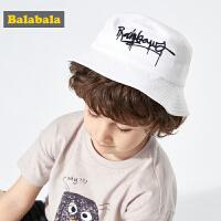 巴拉巴拉儿童帽子薄款夏新款学生时尚洋气渔夫帽韩版遮阳男女