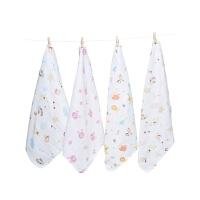 婴儿洗脸毛巾宝宝用品小方巾儿童手帕手绢10条装纱布口水巾棉