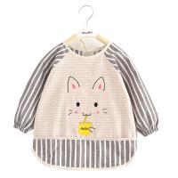 宝宝罩衣纯棉长袖婴儿童吃饭衣男童围裙女孩兜兜褂
