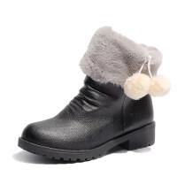 平底加厚底保暖雪地靴欧美时尚圆头短靴女鞋马丁靴女棉鞋