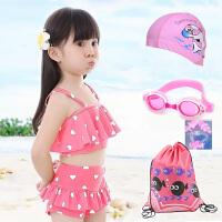 儿童泳衣女童女孩温泉泳装公主比基尼分体裙中小童大童游泳衣