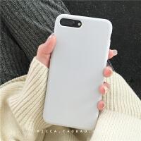 ins风纯色简约7plus苹果x手机壳液态硅胶iphone6s/8防摔xs max/XR 白色【i7/i8 4.7寸】