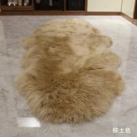 整张羊皮羊毛地毯客厅卧室床边毯羊毛沙发垫飘窗垫皮毛一体垫k