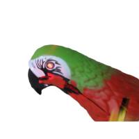 会飞的小鸟玩具 电动鹦鹉会飞发光的发声飞鸟吊线鹦鹉音乐提线小鸟玩具 音乐发光鹦鹉 不带杆子和电池
